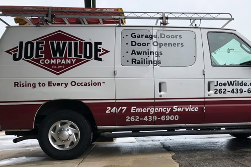 work van with branding on it