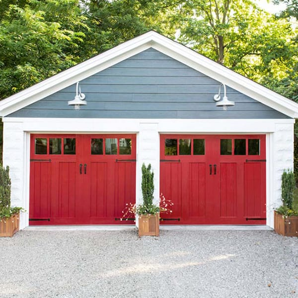 Insulated Wooden Carriage House Garage Doors