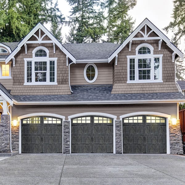 Grooved Panel Steel Carriage House Garage Doors